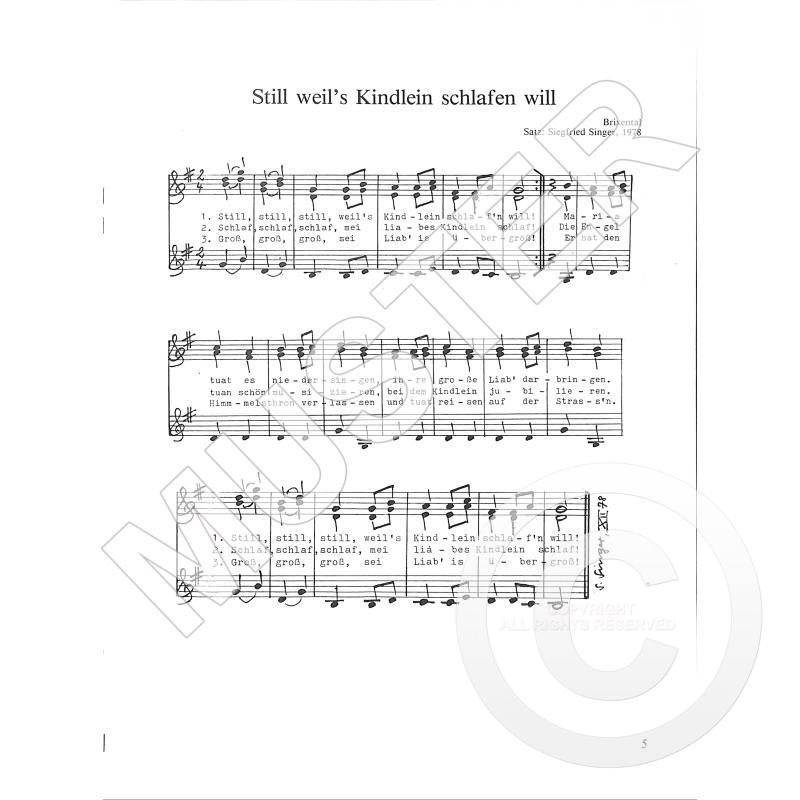 Alpenländische Weihnachtslieder Noten.9 Alpenlaendische Weihnachtslieder