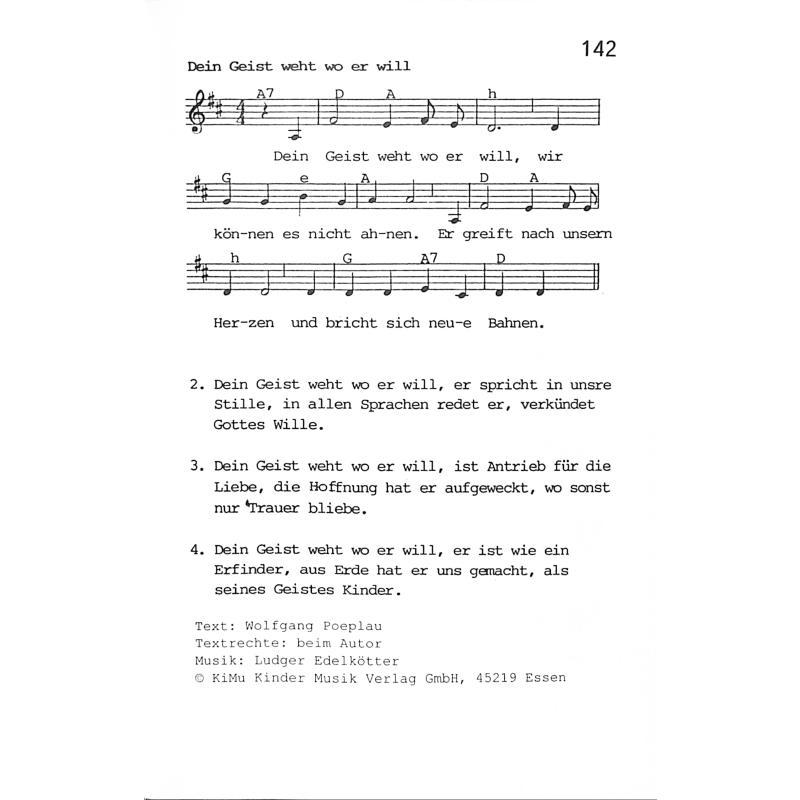 religiöse Lieder Liste