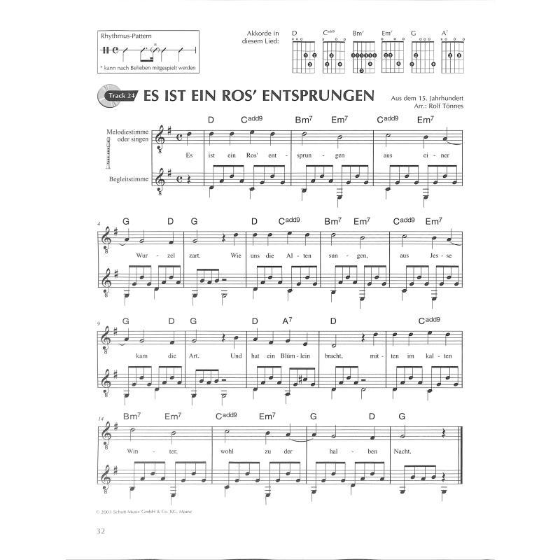 O Tannenbaum Akkorde Gitarre.Weihnachtslieder Von Toennes Rolf Ed 9632 Noten