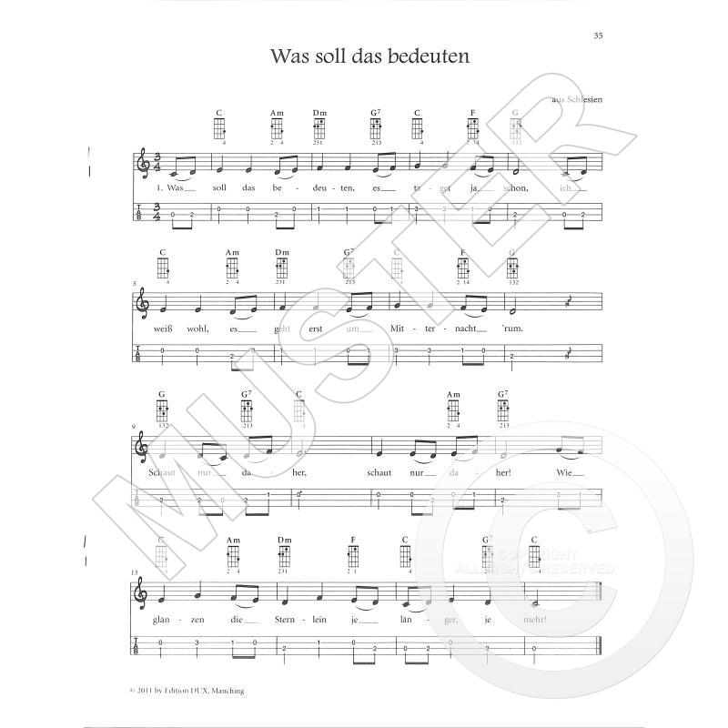 WEIHNACHTEN MIT DER UKULELE - von Kleinmaier Richard - D 325 - Noten