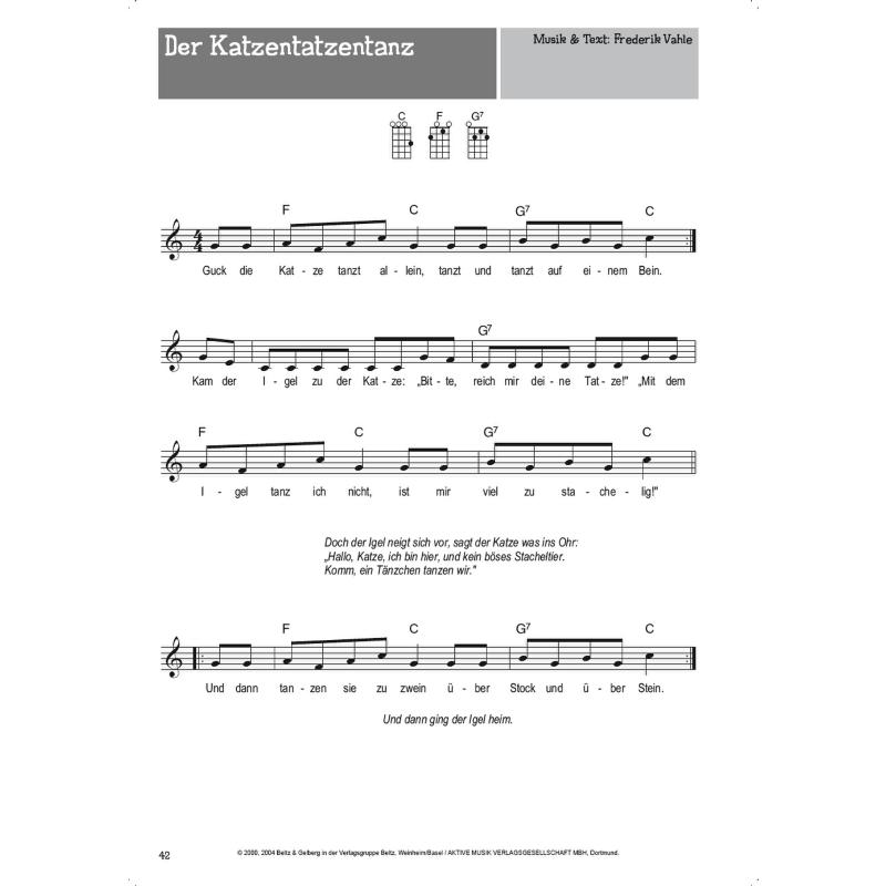 Allein tanzt kinderlied text katze 40+ Kinderlied