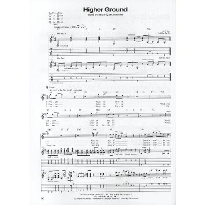 Higher ground bass tab stevie