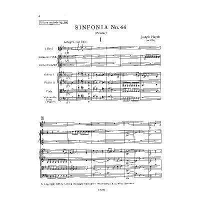 Sinfonie 44 e-moll Hob 1/44 (Trauer)