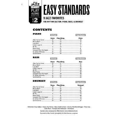 Easy standards - 9 Jazz favorites