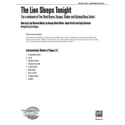the-lion-sleeps-tonight, 21.95 EUR @ notenbuch-de