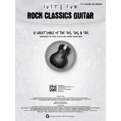 Just for fun - Rock classics Guitar
