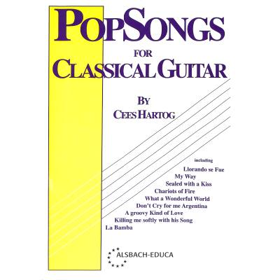 Pop songs 1 for classical guitar