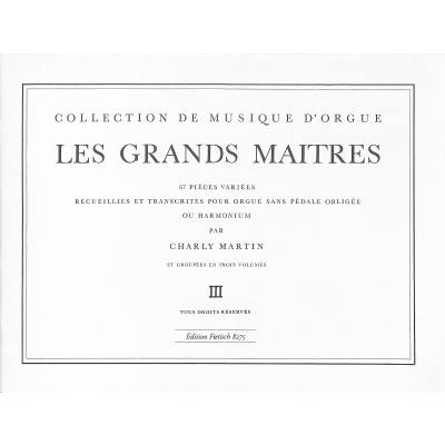 LES GRANDS MAITRES 3 - DIE GROSSEN MEISTER