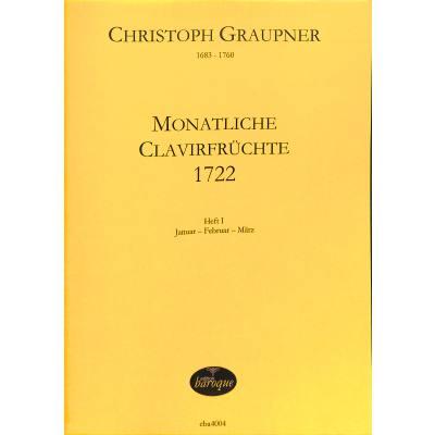 MONATLICHE CLAVIERFRUECHTE 1 (1722)
