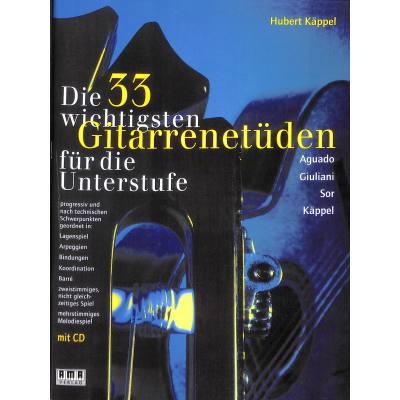 Die 33 wichtigsten Gitarrenetüden