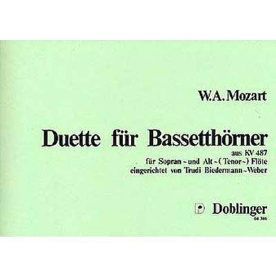 DUETTE FUER BASSETTHOERNER KV 487