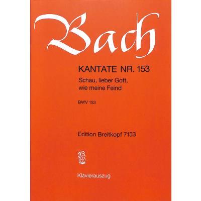 KANTATE 153 SCHAU LIEBER GOTT WIE MEINE FEIND BWV 153