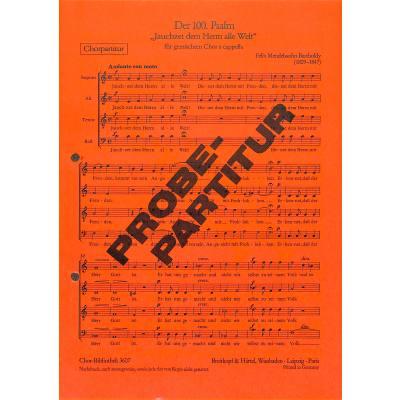 JAUCHZET DEM HERRN ALLE WELT (PSALM 100)