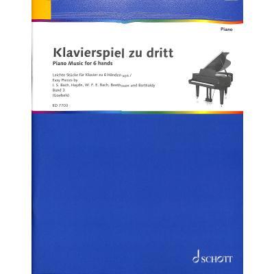 klavierspiel zu dritt 3 musik fuer klavier zu 6 haenden musikhaus hieber lindberg. Black Bedroom Furniture Sets. Home Design Ideas
