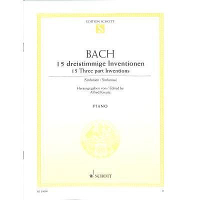 15 DREISTIMMIGE INVENTIONEN (SINFONIEN) BWV 787-801 - broschei