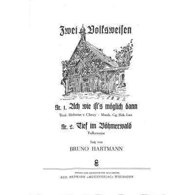 TIEF IM BOEHMERWALD / ACH WIE IST´S MOEGLI - broschei