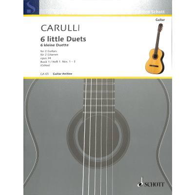 6 kleine Duette 1 op 34