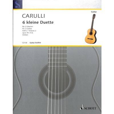 6 kleine Duette 2 op 34
