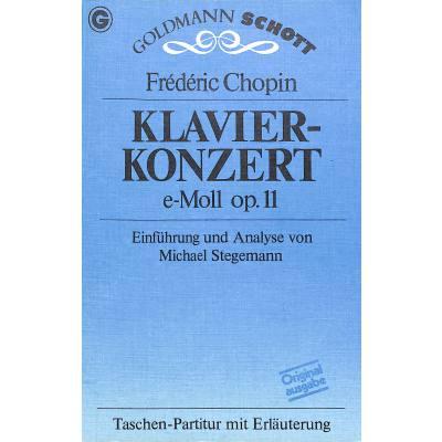 KONZERT 1 E-MOLL OP 11