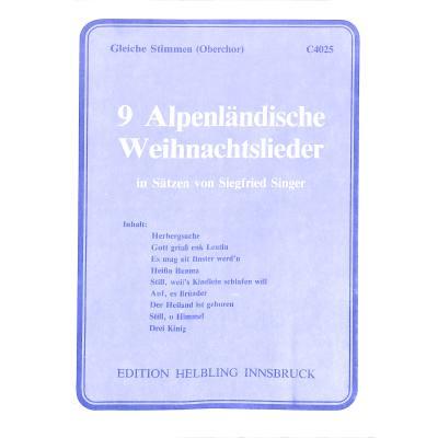 Alpenländische Weihnachtslieder Noten.9 Alpenländische Weihnachtslieder