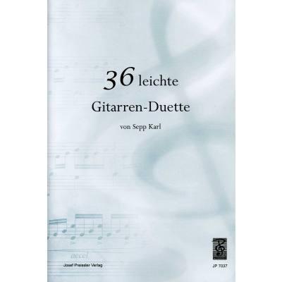 36 LEICHTE GITARREN DUETTE