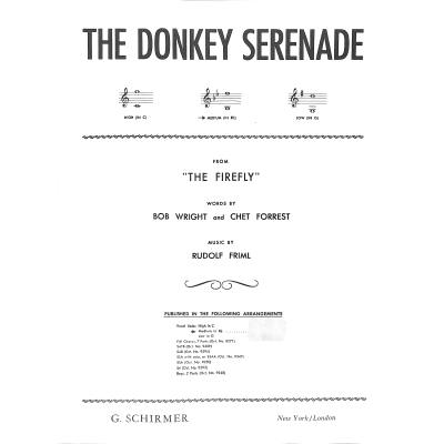 donkey-serenade