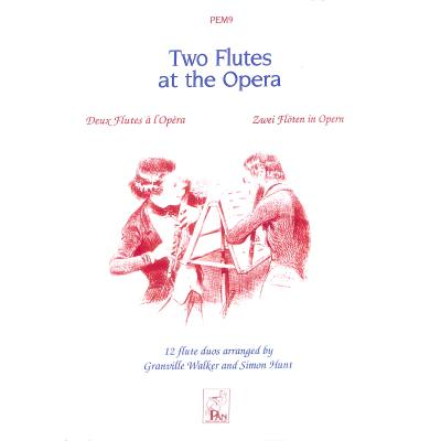 Spartan Press Music Two Flutes At The Opera - broschei