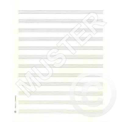 5 BOGEN NOTENPAPIER QUARTFORMAT HOCH 27x34