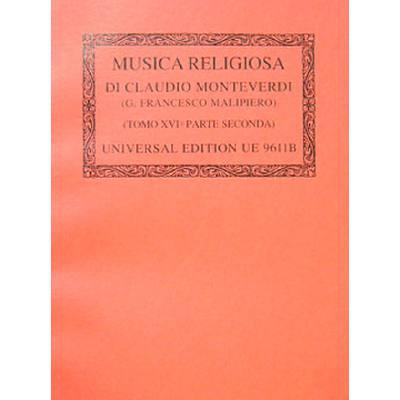 Musica religiosa 3/2 - Tomo 16/2