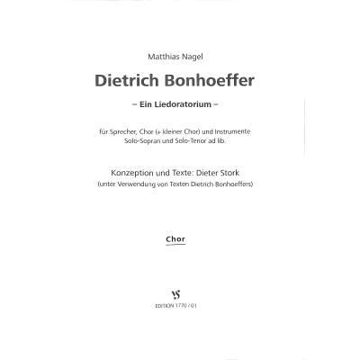 Dietrich Bonhoeffer - Ein Liedoratorium