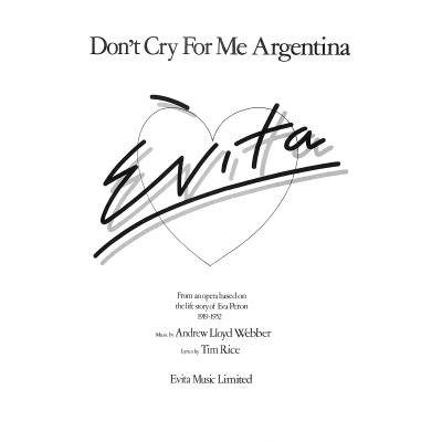 DON´T CRY FOR ME ARGENTINA C-DUR