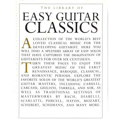 The library of easy guitar classics