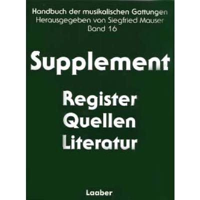 supplement-register-quellen-literatur, 128.00 EUR @ notenbuch-de