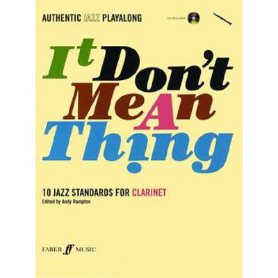 Faber Music Hampton Andy - It Don´t Mean A Thing + Cd Clarinet And Piano - broschei