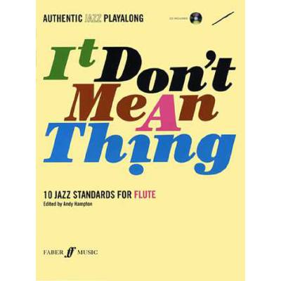 Faber Music Hampton Andy - It Don´t Mean A Thing + Cd Flute And Piano - broschei