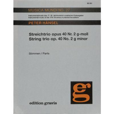 2 G-moll 40 Nr Streichtrio Op Hänsel