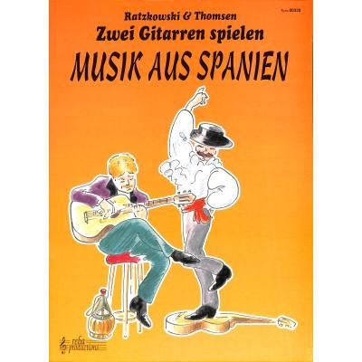 2 Gitarren spielen Musik aus Spanien