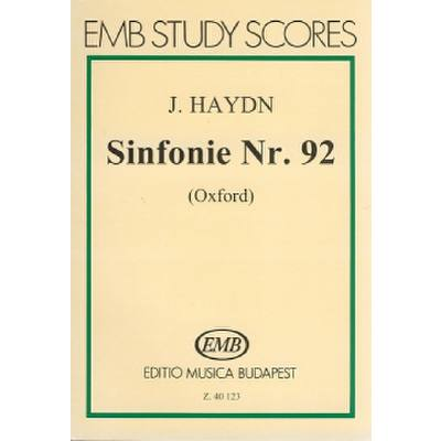 SINFONIE 92 G-DUR HOB 1/92 (OXFORD)