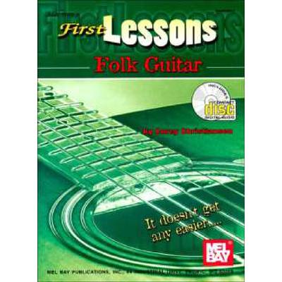First Lessons Folk Guitar Antiquarische Noten/songbooks Christiansen