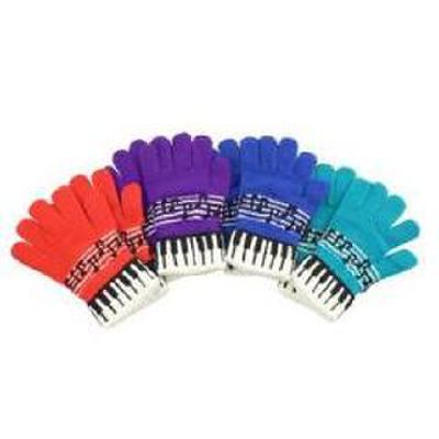 Stretch Handschuhe Tastatur + Notenlinie