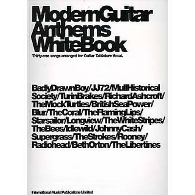 Modern guitar anthems white book