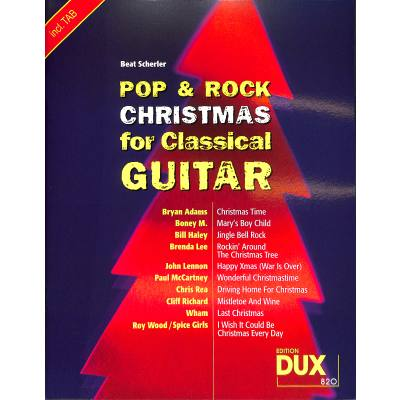 Pop + Rock christmas for classical guitar