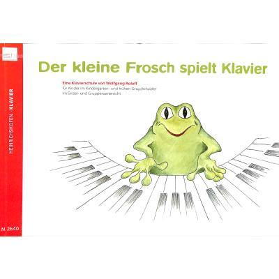 Der kleine Frosch spielt Klavier