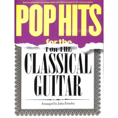 Pop hits for the classical guitar
