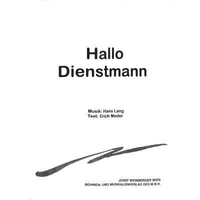 HALLO DIENSTMANN