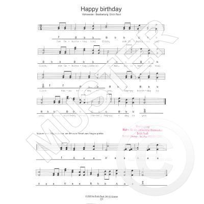 Jetelina Akkordeonmusik Birthday Fun Noten