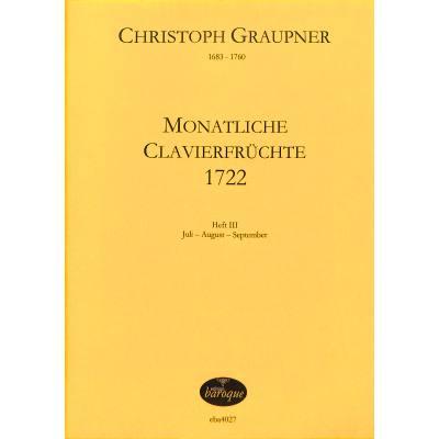 MONATLICHE CLAVIERFRUECHTE 3 (1722)