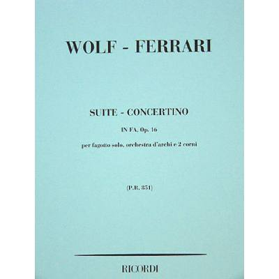 Suite concertino F-Dur op 16