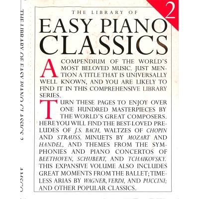 The library of easy piano classics 2