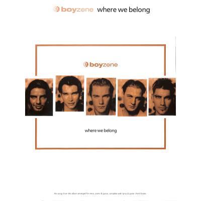 where-we-belong, 20.30 EUR @ notenbuch-de